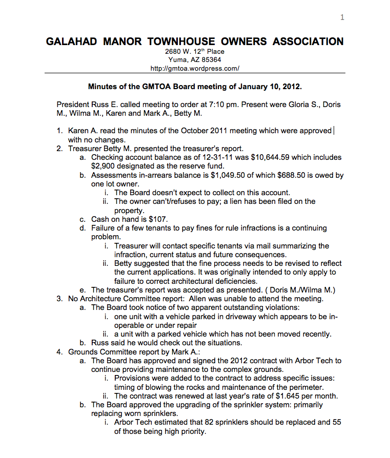 GMTOA Documents � Galahad Manor TOA � Page 4